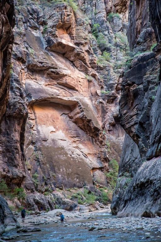 Narrows - ściany kanionu