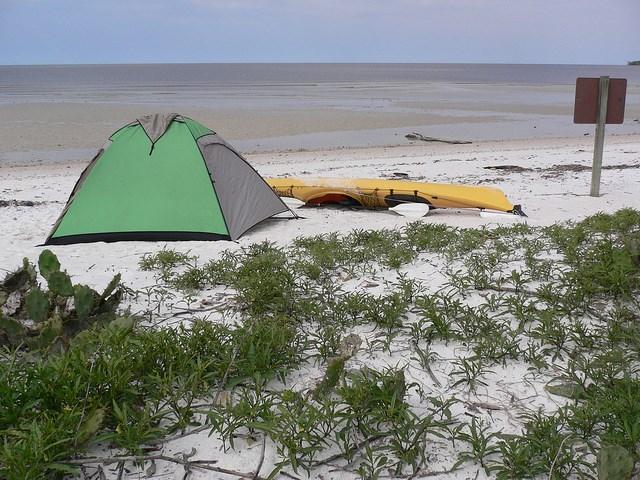 NPS Photo - prowizoryczne pole namiotowe