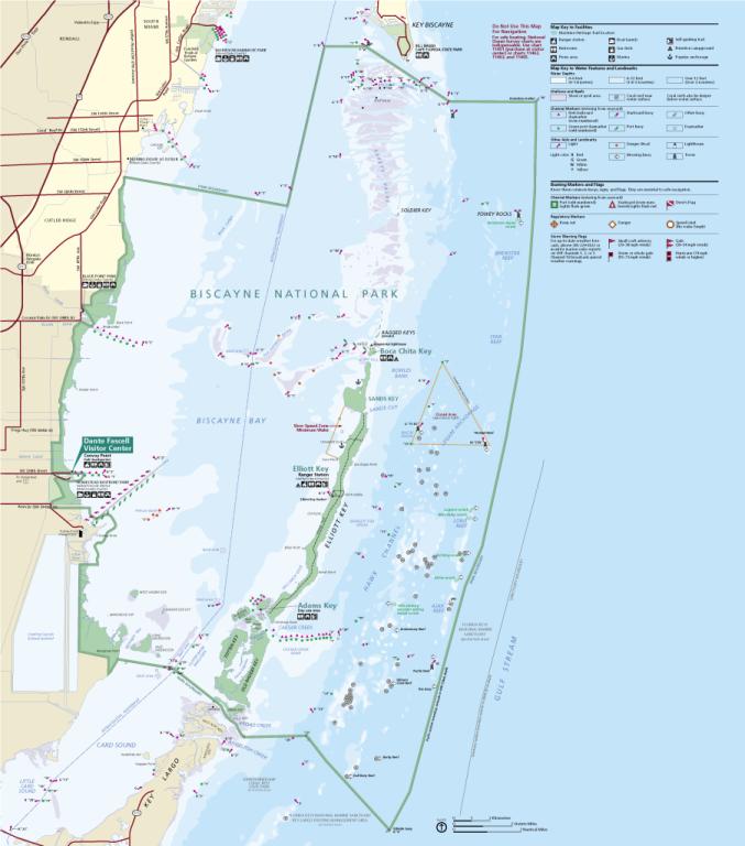 Biscayne - mapa parku