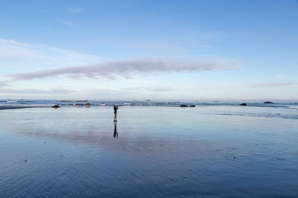 Ruby Beach - odpływ
