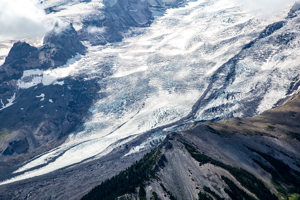 Mt. Rainier Sunrise - lodowiec