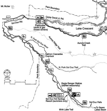 Olympic Sol Duc - mapa parku