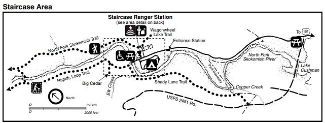 Olympic Staircase - mapa parku